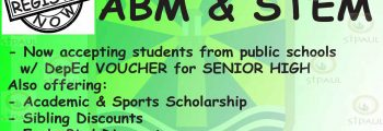Beaconhouse St. Paul now accepts Senior High School Students!